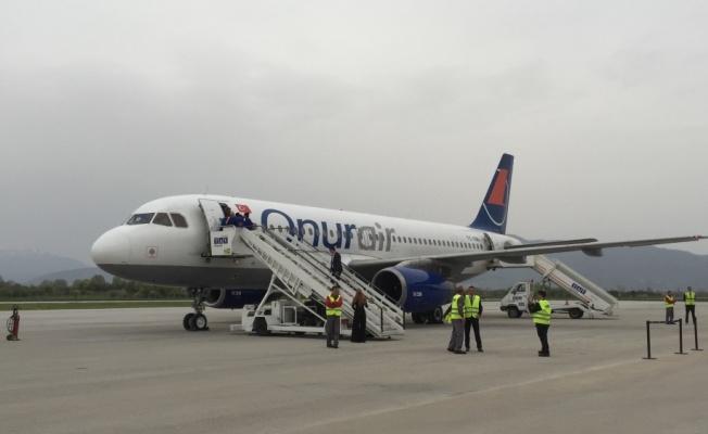 Onur Air'in Ohrid seferleri başladı