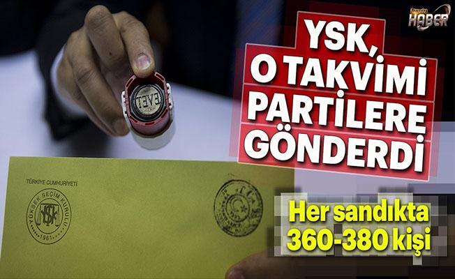 Seçim takvimi partilere gönderildi