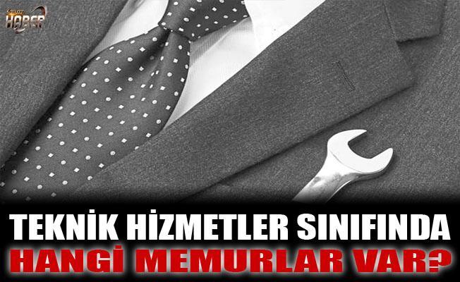 TEKNİK HİZMETLER SINIFINDA YER ALAN MEMURLAR