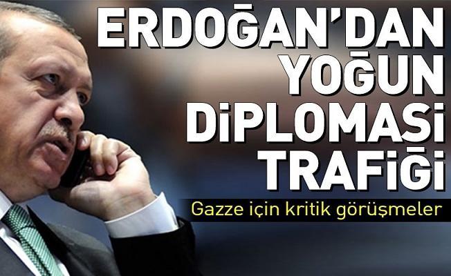 Erdoğan'dan peş peşe telefon görüşmeleri .