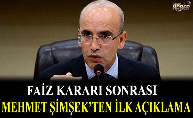 Faiz Kararı sonrası Mehmet Şimşek'ten önemli açıklama
