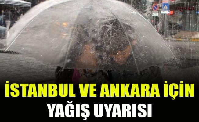 Meteoroloji'den İstanbul ve Ankara'da yağış uyarısı