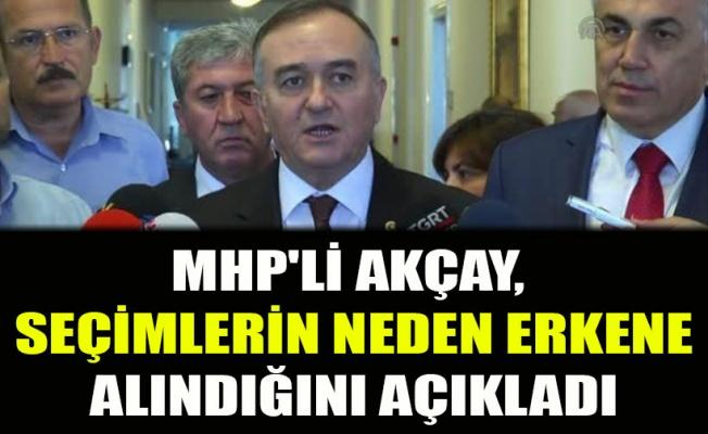 MHP'li Akçay, seçimlerin neden erkene alındığını açıkladı