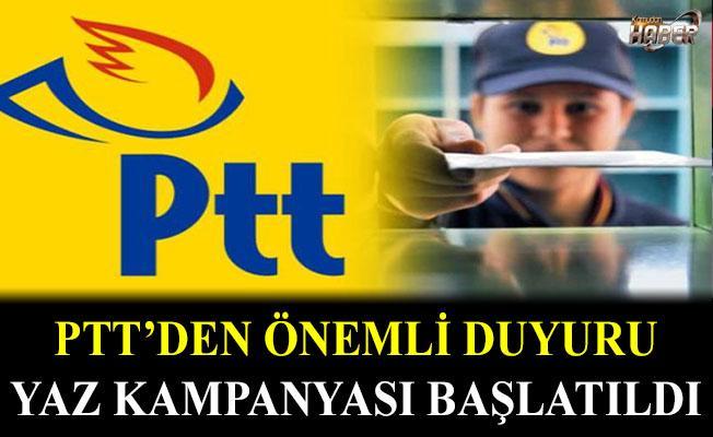PTT, YAZ KAMPANYASI BAŞLATTI