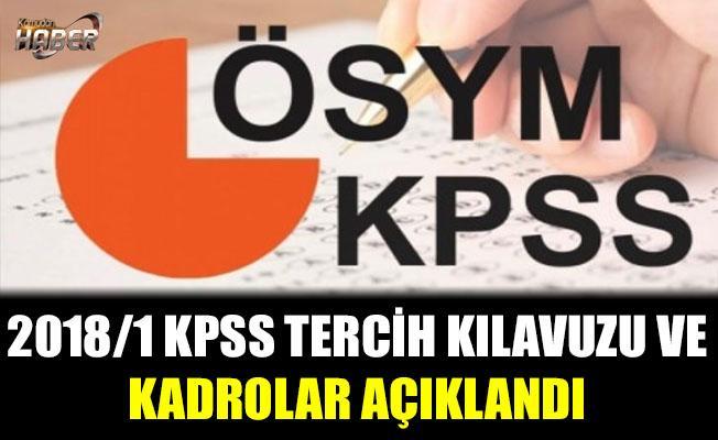 2018/1 KPSS Tercih kılavuzu Yayımlandı