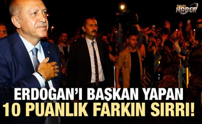 Erdoğan'ı başkan yapan 10 puanlık farkın sırrı!