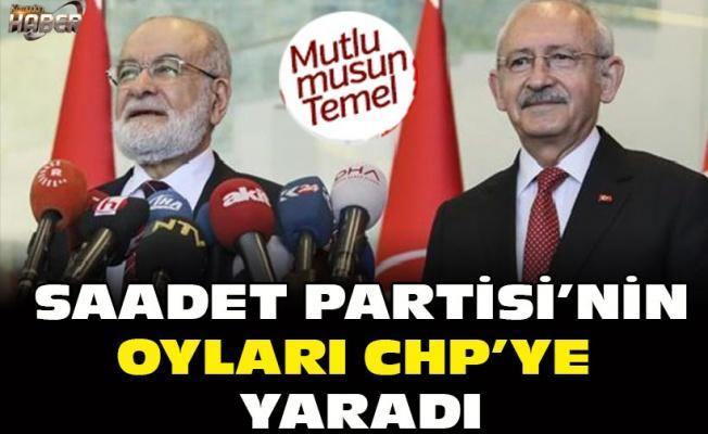 Saadet Partisi'nin oyları CHP'ye yaradı!
