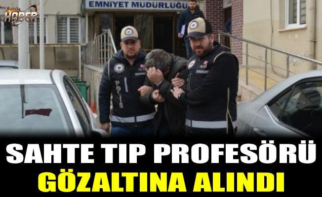 Sahte profesör gözaltına alındı
