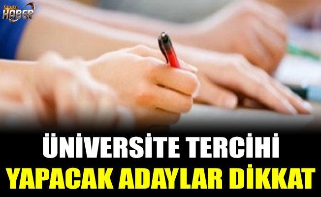 Üniversite tercihleri için önemli uyarı