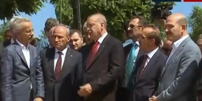 Erdoğan: Zarar gören köprünün ihalesini hemen yapacağız