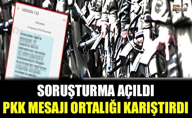 PKK mesajı ortalığı karıştırdı
