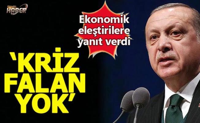 Erdoğan: Bizde kriz yok, bunların hepsi manipülasyon