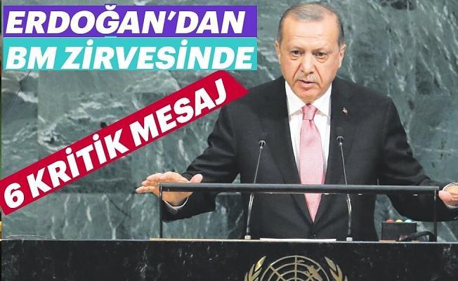 Erdoğan'dan Birleşmiş Milletler zirvesinde 6 mesaj
