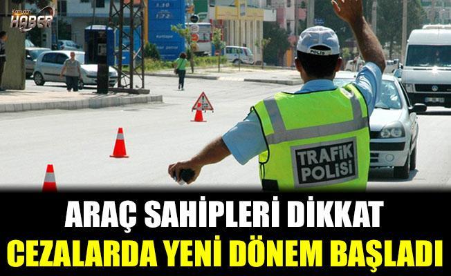 Trafik cezalarında yeni sistem başladı