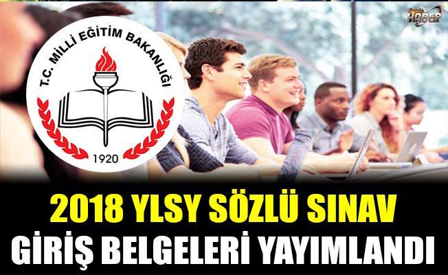 2018 YLSY - Sözlü Sınav Giriş Belgeleri Yayımlandı