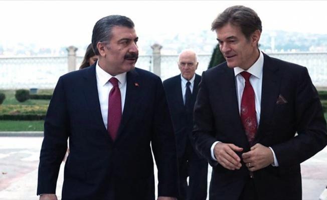 Bakan Koca ile doktor Mehmet Öz bir araya geldi