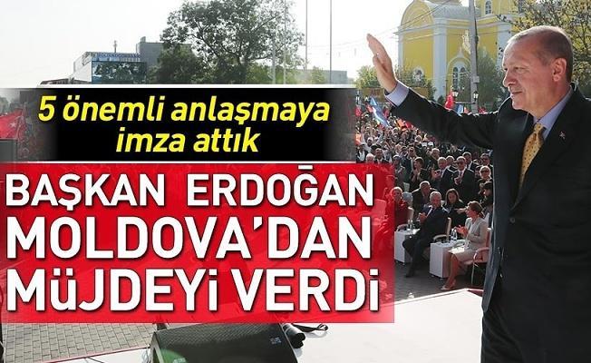 Başkan Erdoğan Gagauz Türklerine müjdeyi verdi .