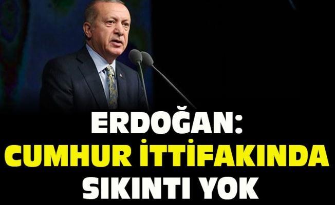 Erdoğan: Cumhur ittifakında sıkıntı yok