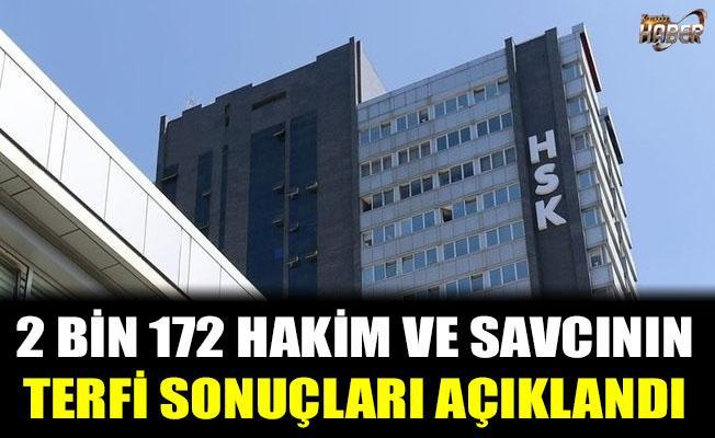 HSK, 2 bin 172 hakim ve savcının terfi sonuçlarını açıkladı