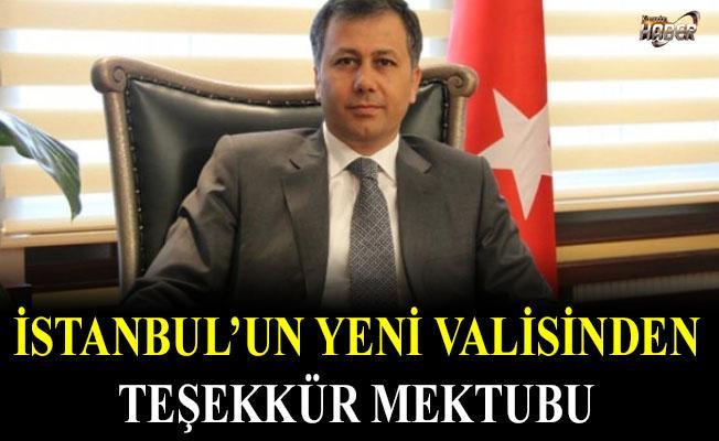 İstanbul'un yeni valisi Yerlikaya'dan teşekkür mektubu