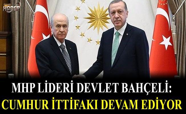 MHP lideri Bahçeli'den Cumhur ittifakı açıklaması