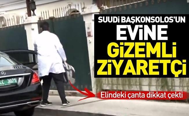 Suudi Başkonsolos'un evine gizemli ziyaretçi! Elindeki çanta dikkat çekti .