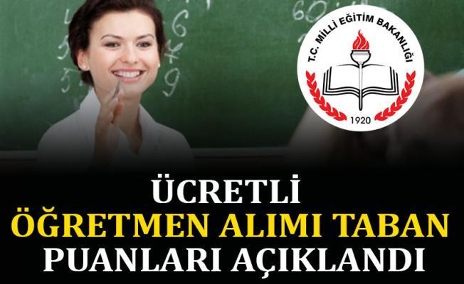 Ücretli öğretmen alımı taban puanları açıklandı