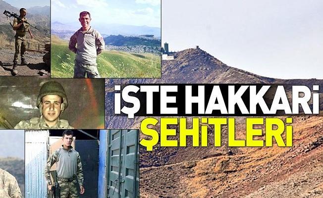 Hakkari'de şehit olan 7 askerimizin kimlik bilgileri belli oldu .