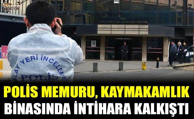 Kaymakamlık binasında Polis memuru, intihara kalkıştı