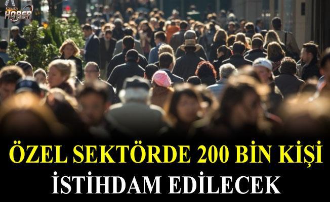 200 bin kişi, Özel sektörde istihdam edilecek