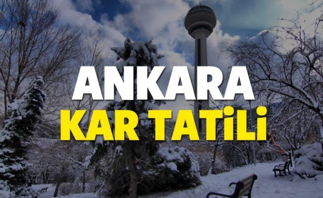 Ankara'da yarın okullar tatil edildi