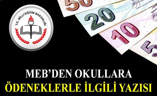 MEB'den okullara ödeneklerle ilgili yazı