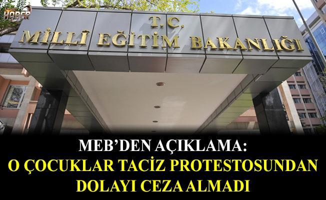 MEB'den taciz protestosu için açıklama