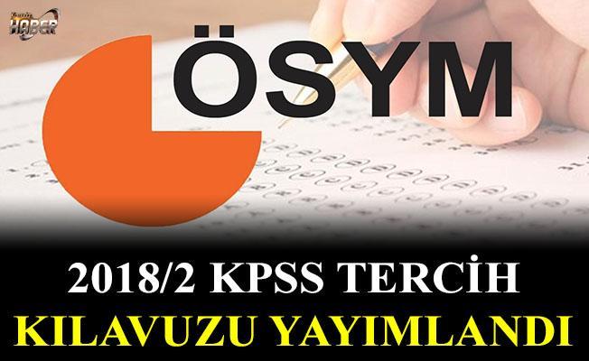 ÖSYM, 2018/2 KPSS tercih kılavuzunu yayımladı