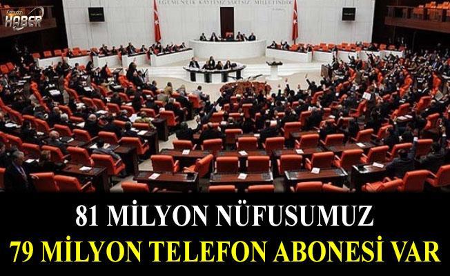 Telefon abonesi, ülke nüfusu kadar oldu