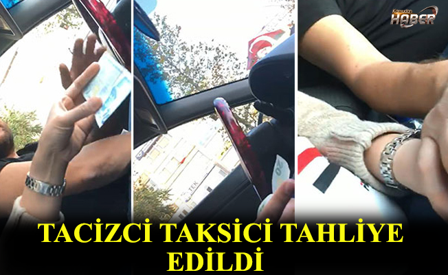 Turisti taciz eden taksici serbest bırakıldı.