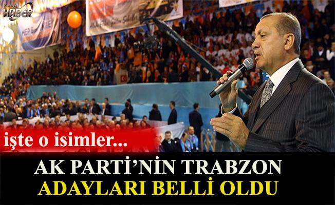 AK Parti'nin Trabzon adayları belli oldu.