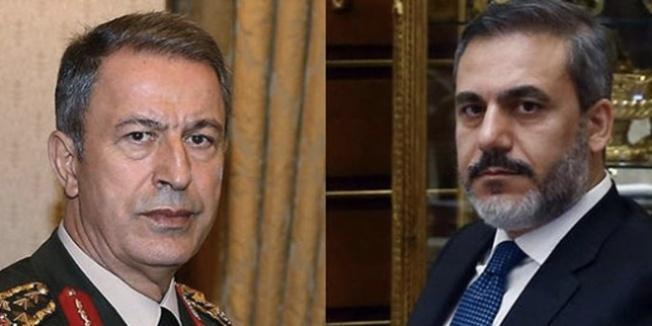 Bakan Akar, komutanlar ve MİT Müsteşarı Fidan sınırda