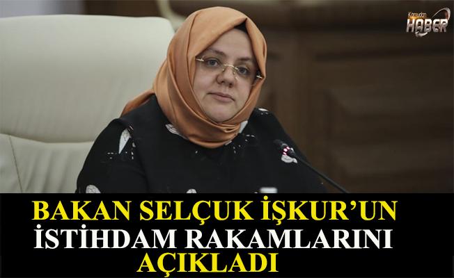 Bakan Selçuk İŞKUR'un istihdam rakamlarını açıkladı.