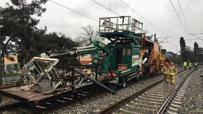 İstanbul'da tren kazası.