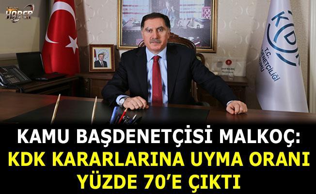 Kamu Başdenetçisi Malkoç: KDK kararlarına uyma oranı yüzde 70'e çıktı
