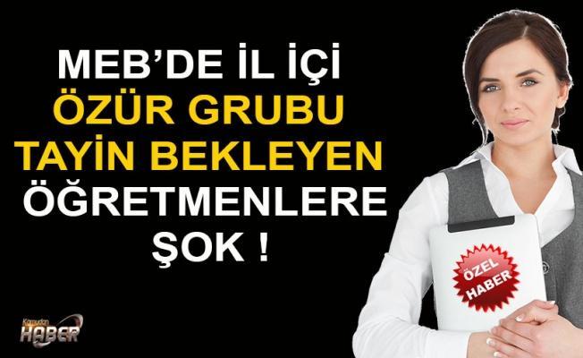 MEB'İN İL İÇİ FİYASKOSU KAPIDA !