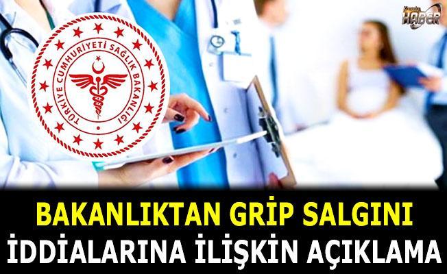 Sağlık Bakanlığı'ndan 'Grip salgını' için açıklama