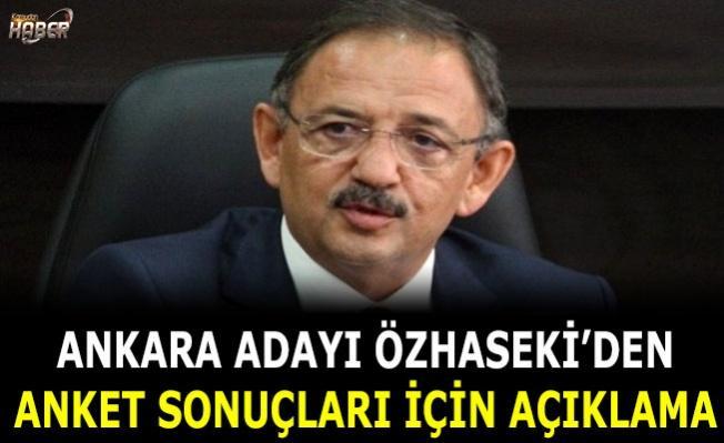 Ankara Adayı Özhaseki'den anket sonuçları için açıklama