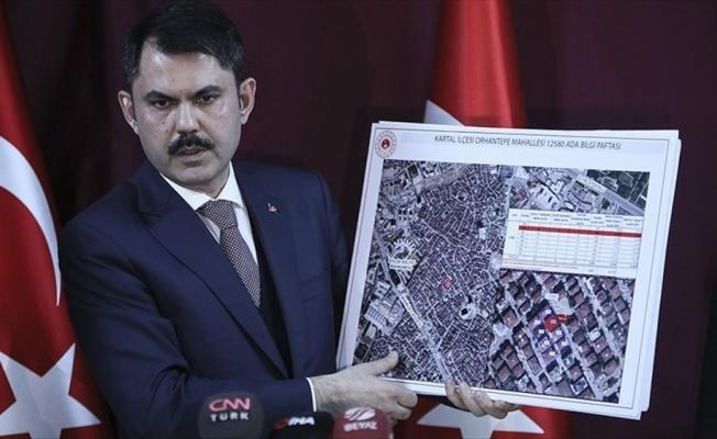 Çevre ve Şehircilik Bakanı Kurum: Kartal'da riskli 8 bina yıkılacak