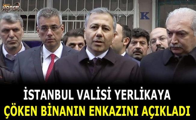 Çöken binadaki bilanço için İstanbul Valisi'nden açıklama