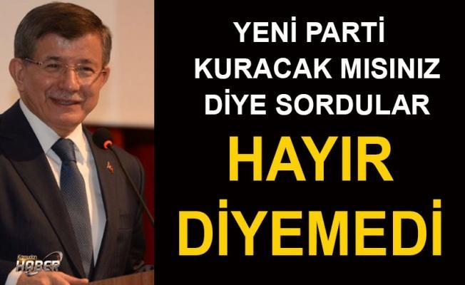 Davutoğlu'na o soru soruldu: Yeni bir siyasi oluşum düşünüyor musunuz