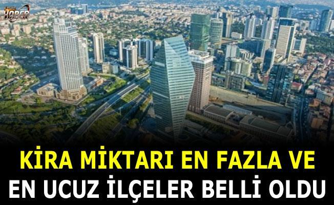 İstanbul'da kira miktarı en ucuz ve en pahalı ilçeler belli oldu
