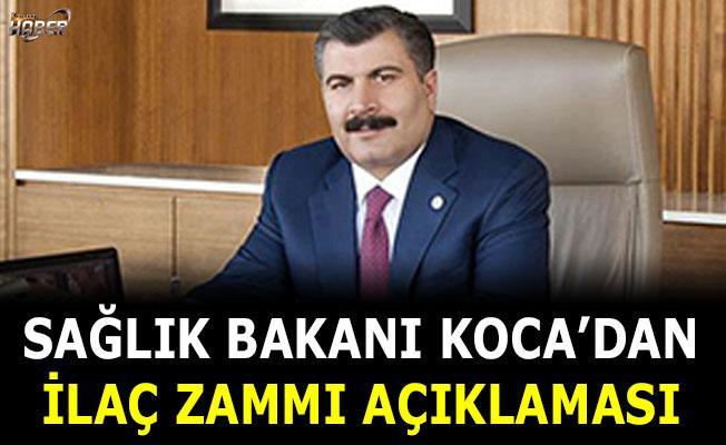 Sağlık Bakanı Fahrettin Koca'ndan ilaç zammı açıklaması