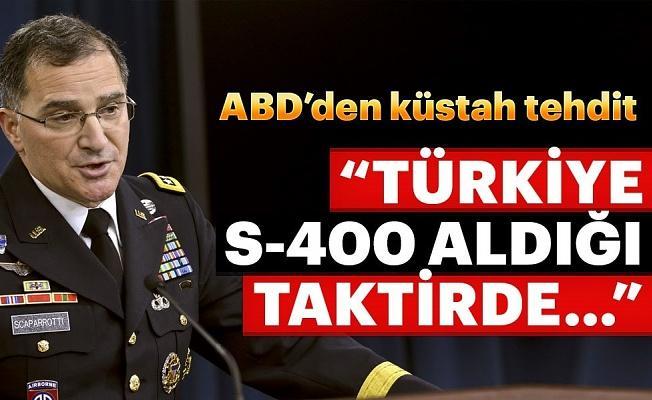 ABD'den, Türkiye'ye küstah tehdit